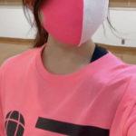 Barzagliのマスク ピンク×白